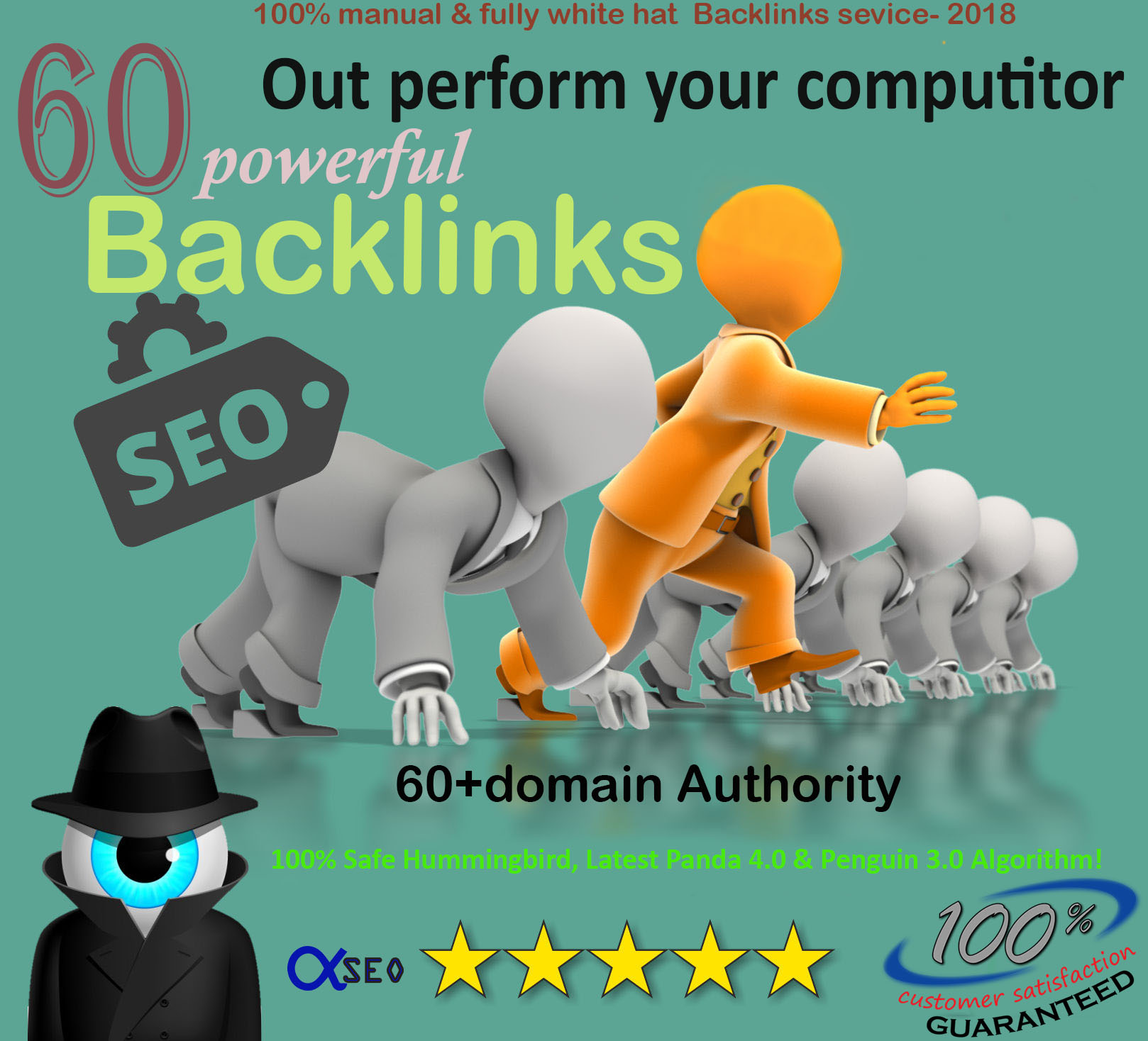 Manually create 60 Pr9 70+DA Safe Powerful Backlinks Increase Your Google & others SERP rank