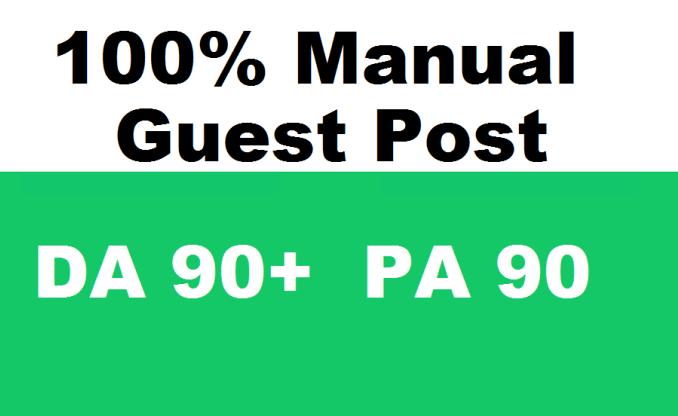 10 Guest Post Dofollow backlink on DA 90 Site