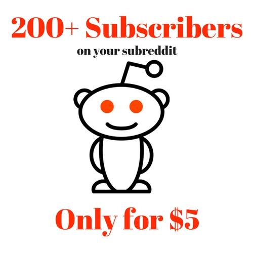 200+ Sub-reddit unique Subcribers