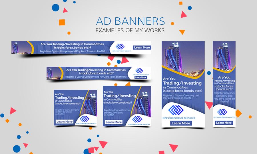 Design 17 Professional Web Banner Ads for $5 - SEOClerks