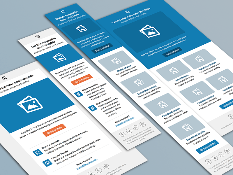 Get Professionally Designed And Fully Responsive Email Template