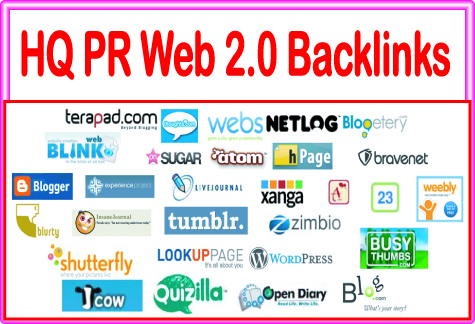 Create 75 Web 2.0 blogs Highest Quality & Most Effective Backlinks