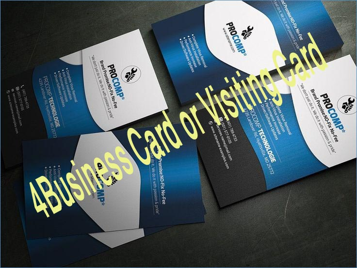 Provide 4 Business Card or Visiting Card