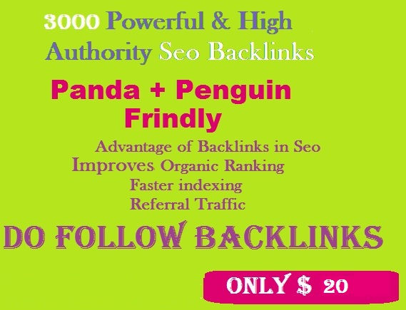 Provide GSA SER 4000 High Athourity Da Pa Contextual Backlinks
