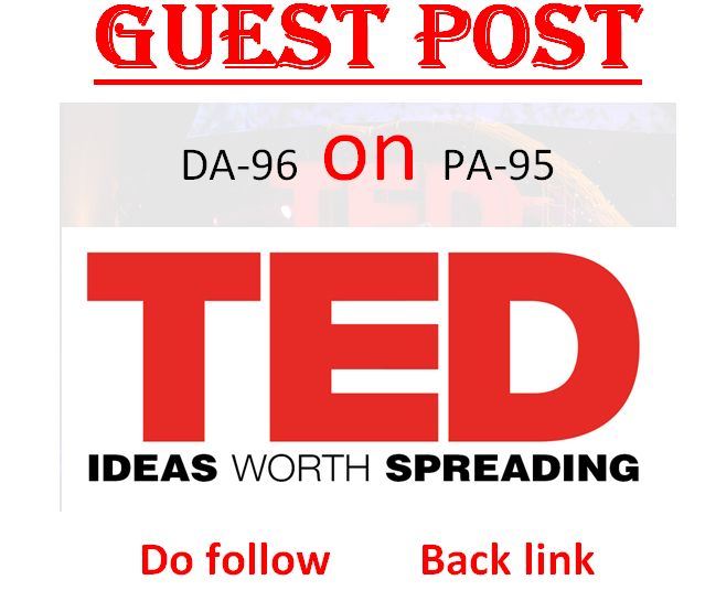 I can publish article with 2 dofollow backlink on TED. com DA96