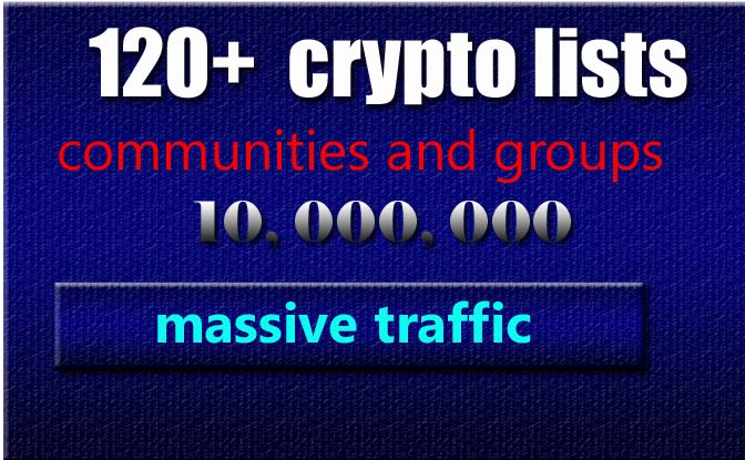 30 crypto largest groups and communities lists for marketing