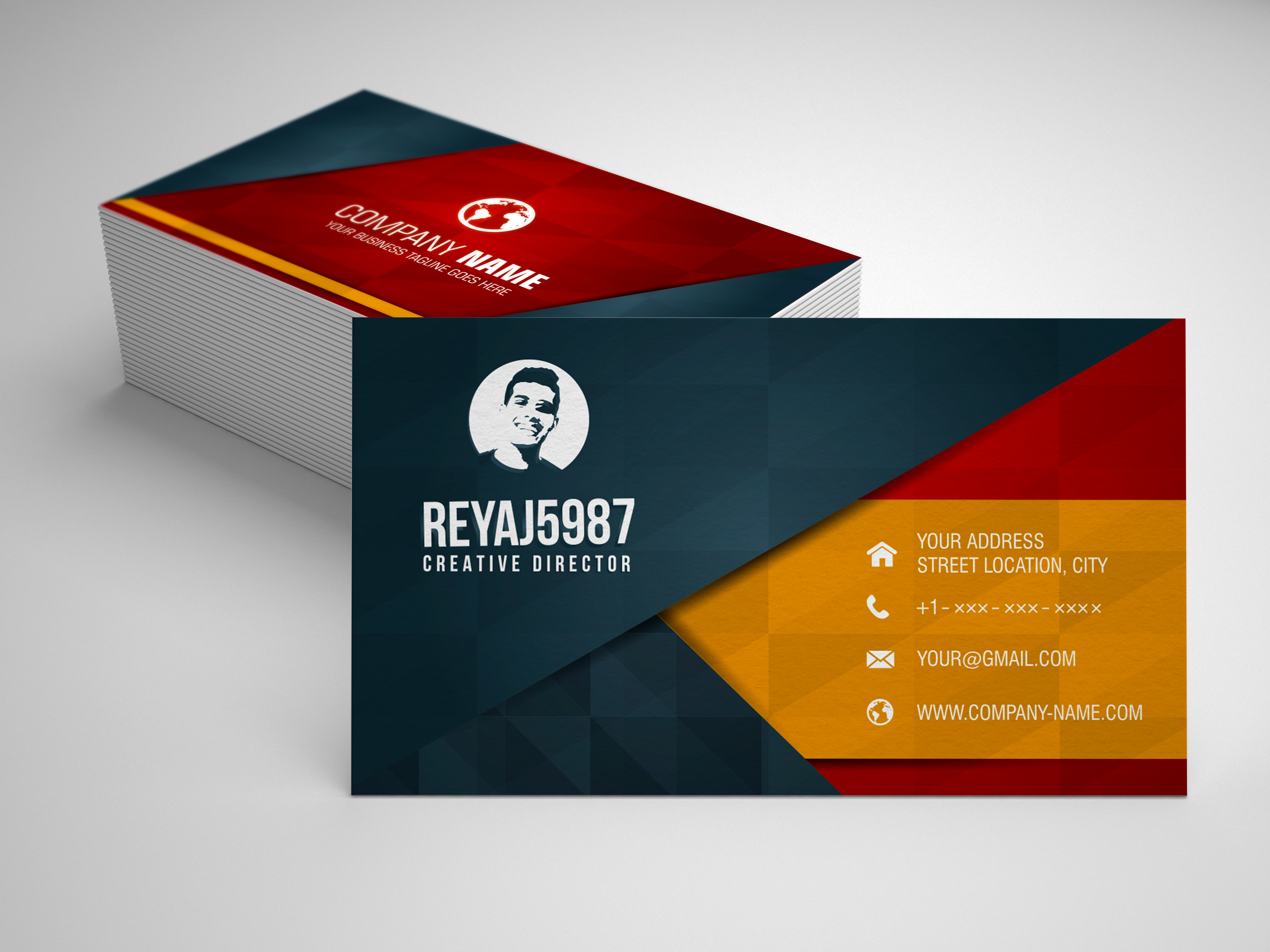 get a modern and clean business card