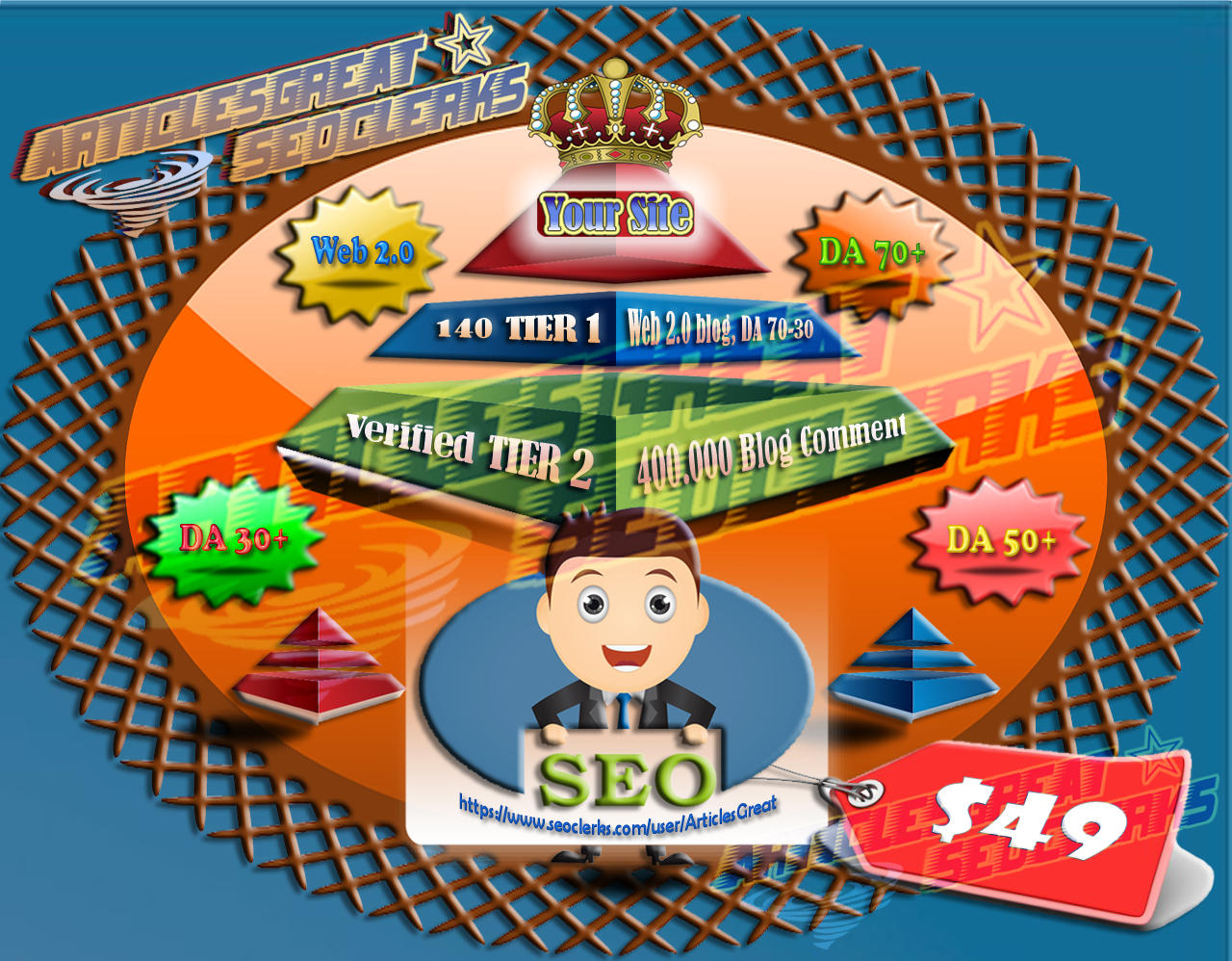 250 PBN Indexed Backlink Web 2.0 Blog DA 90 + Login Account