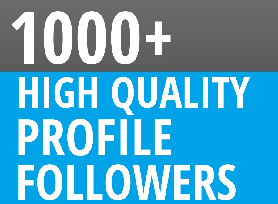 Start Instant 1000+ Profile Followers High Quality Organic SEO Package