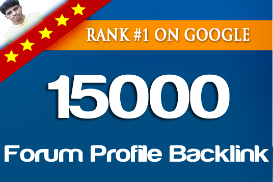 12000 Forum profiles backlinks service