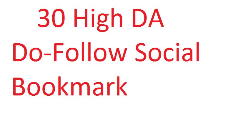 Manually Create 30 High DA Do-Follow Social Bookmarking 2018