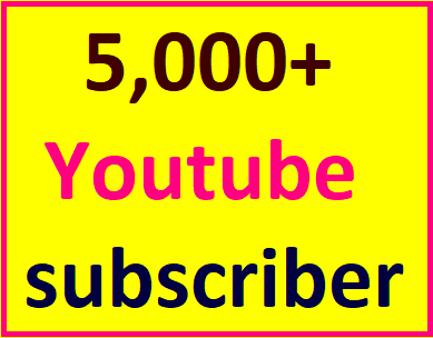 Guaranteed 5,000+You'tube channel subscriber non drop within 12-24 hour in complete