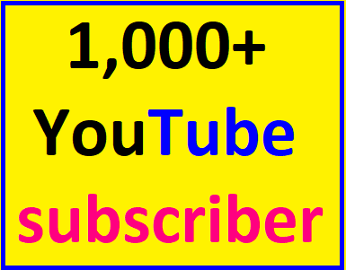 Guaranteed 1000+You'tube channel subcriber non drop  within 12-24 hour complete