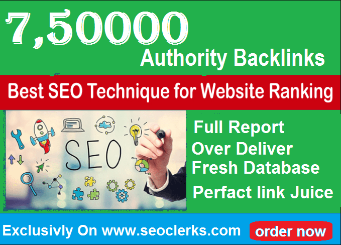 750,000 Gsa,  High Quality Authority Backlinks For SEO To Rank Site