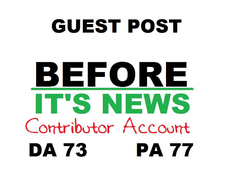 Get you an authority backlink / guest post on BeforeItsNews com DA78