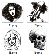 55 PNG Sketch images in Black and White
