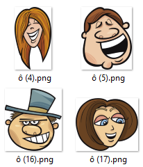 Face Expression Collection of over 1000 PNG and SVG Images