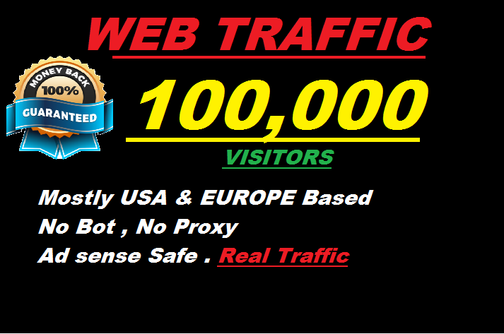 100 000 World Wide Web Traffic to your Web Site