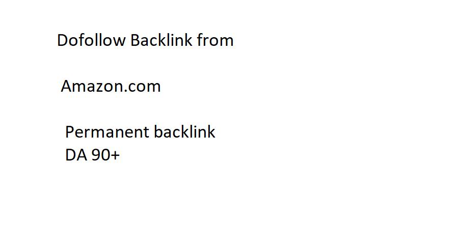 Dofollow backlink From Amazon