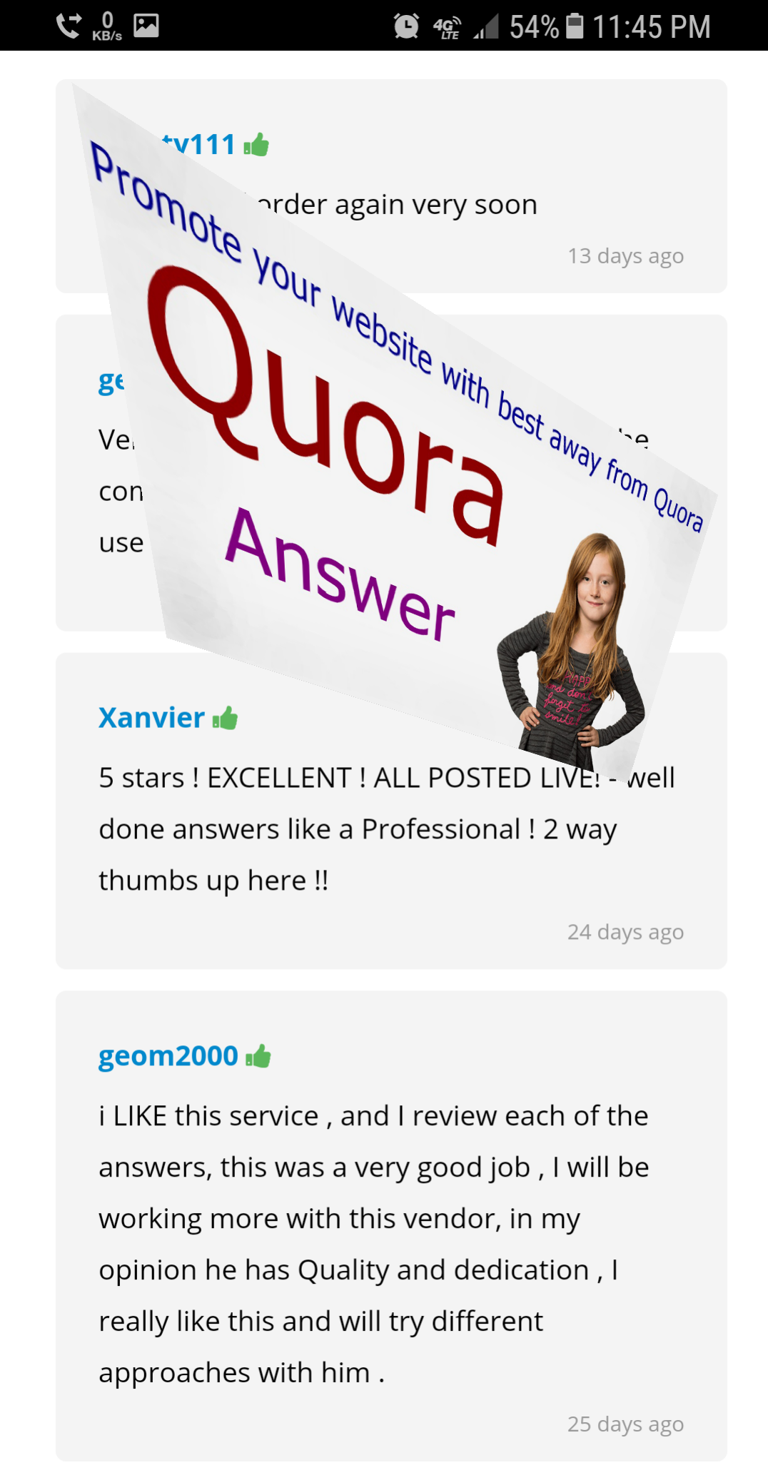 Give you Article/website/business relevant 25 HQ Quora Answer for targeted traffic