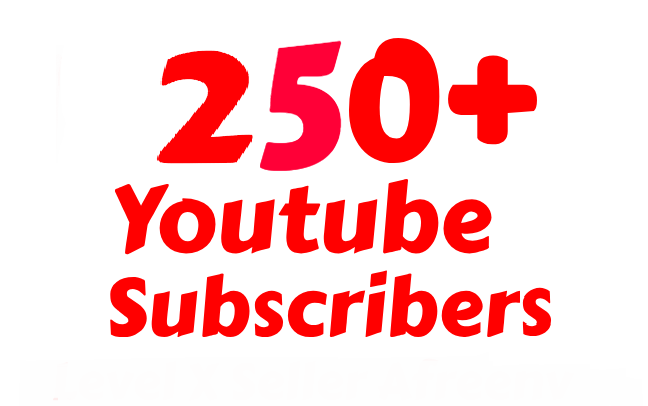 Instant start Non-drop 250+ You-Tu-be subs-cribers within 4-6 hours