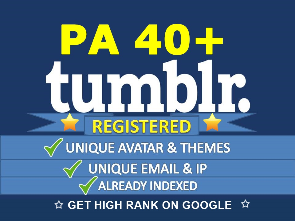 Find and Register 3 Expired Tumblr PA40 Plus Unique