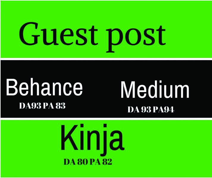 Write and publish guest post on medium, kinja and behance
