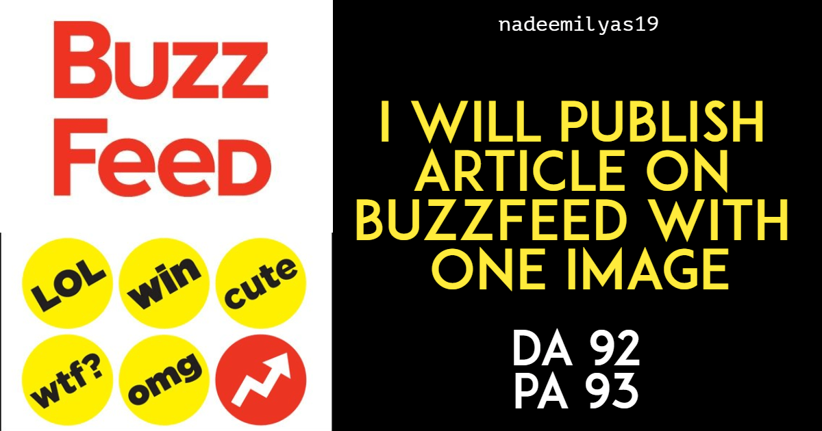 Publish Your Article on BuzzFeed with one Image