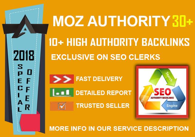 2018 Sky Rocket SEO - 10 DA 30+ Authority Backlinks with accounts