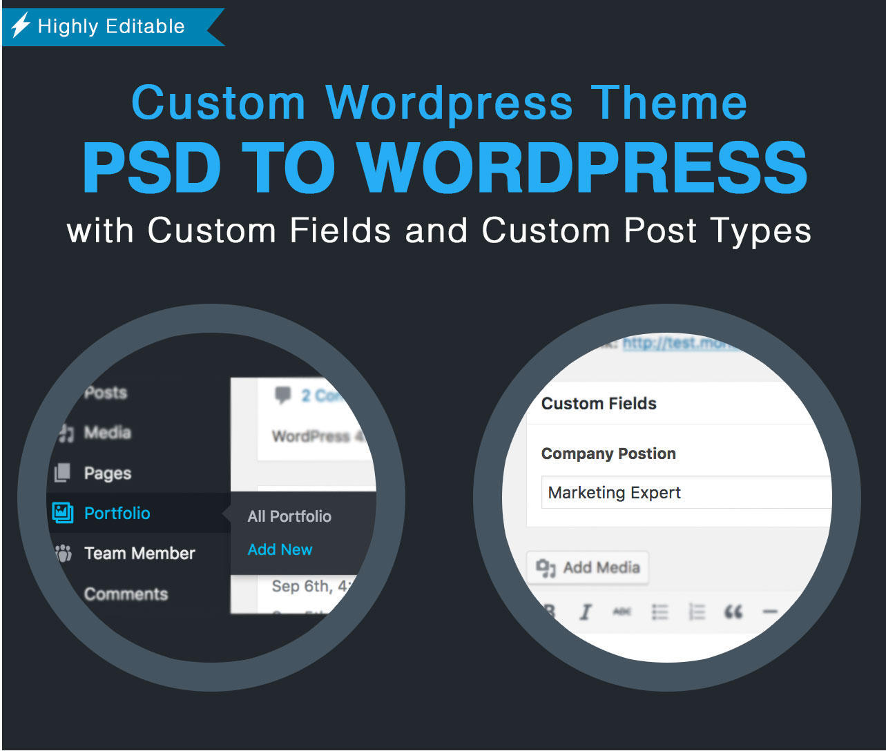 CONVERT PSD TO PIXEL PERFECT WORDPRESS FULL RESPONSIVE