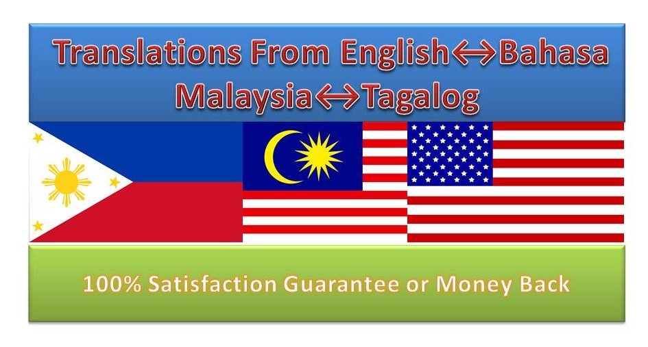 Article Translation Between English,  Tagalog,  Bahasa Melayu