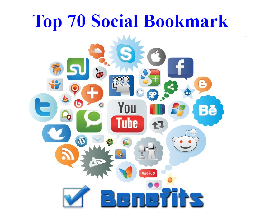 Top 70 Social Bookmarks Make By hand 100 Manual Work