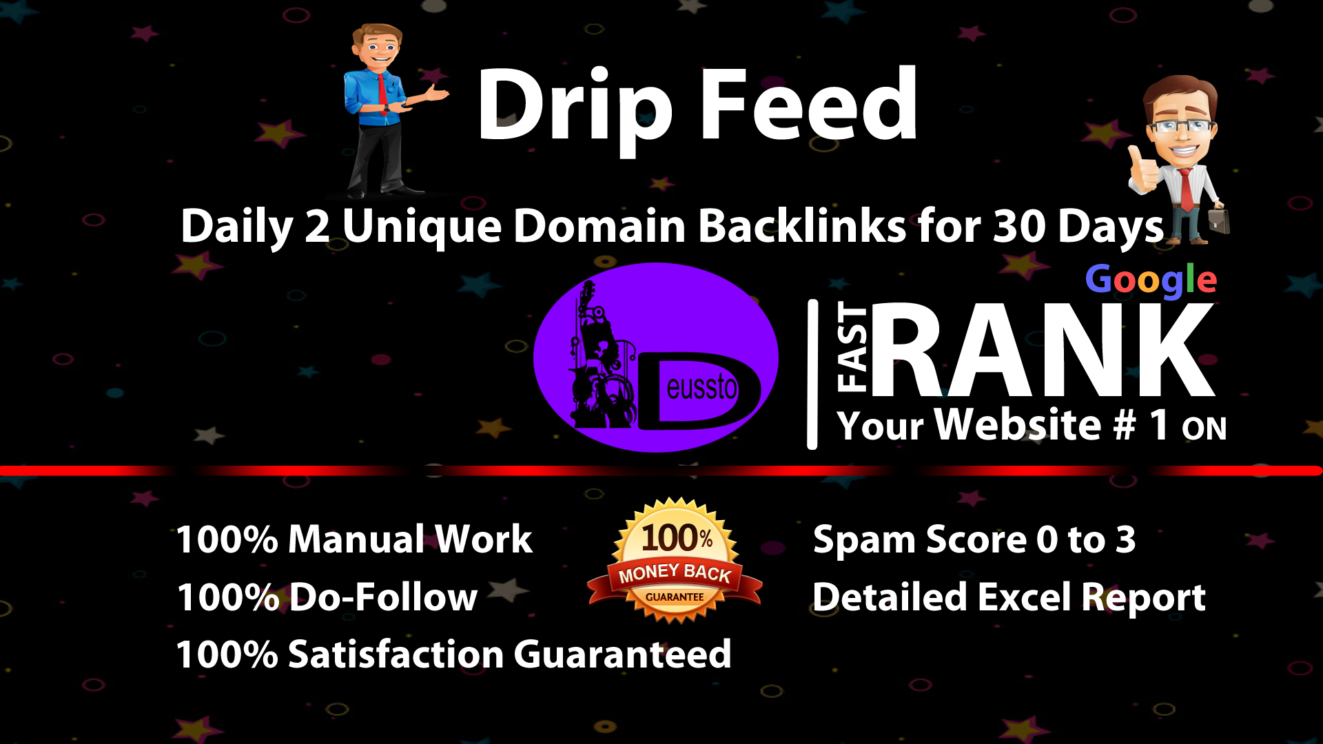 Drip Feed, Daily 2 Unique Domian Backlinks Of Da 20 Plus