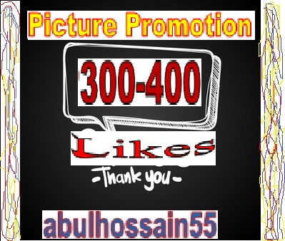 Fast & 100 Safe Working Pictureee Promotion Within 12-24 Hours offered by abulhossain55