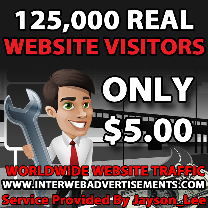 125K Web Traffic To Your Website, Blog or Affiliate Link