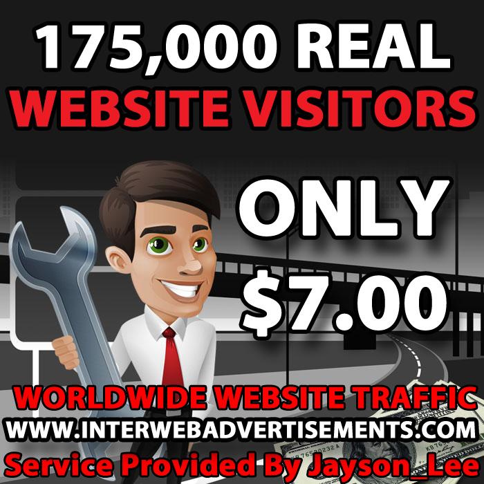 175K Web Traffic To Your Website, Blog or Affiliate Link