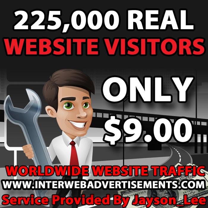 225K Web Traffic To Your Website, Blog or Affiliate Link