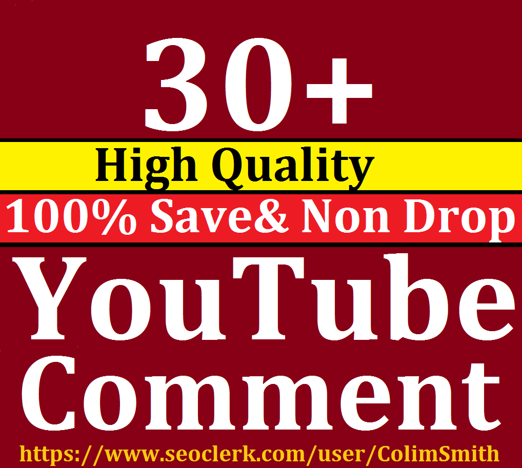 Instant 30+ High Quality Utube  Custom Comm ents Super Fast Speed 1-4 hrs will be done