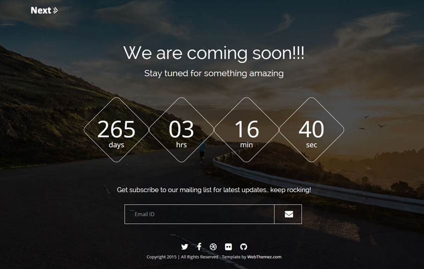 Provide You Clean HTML Coming Soon Page