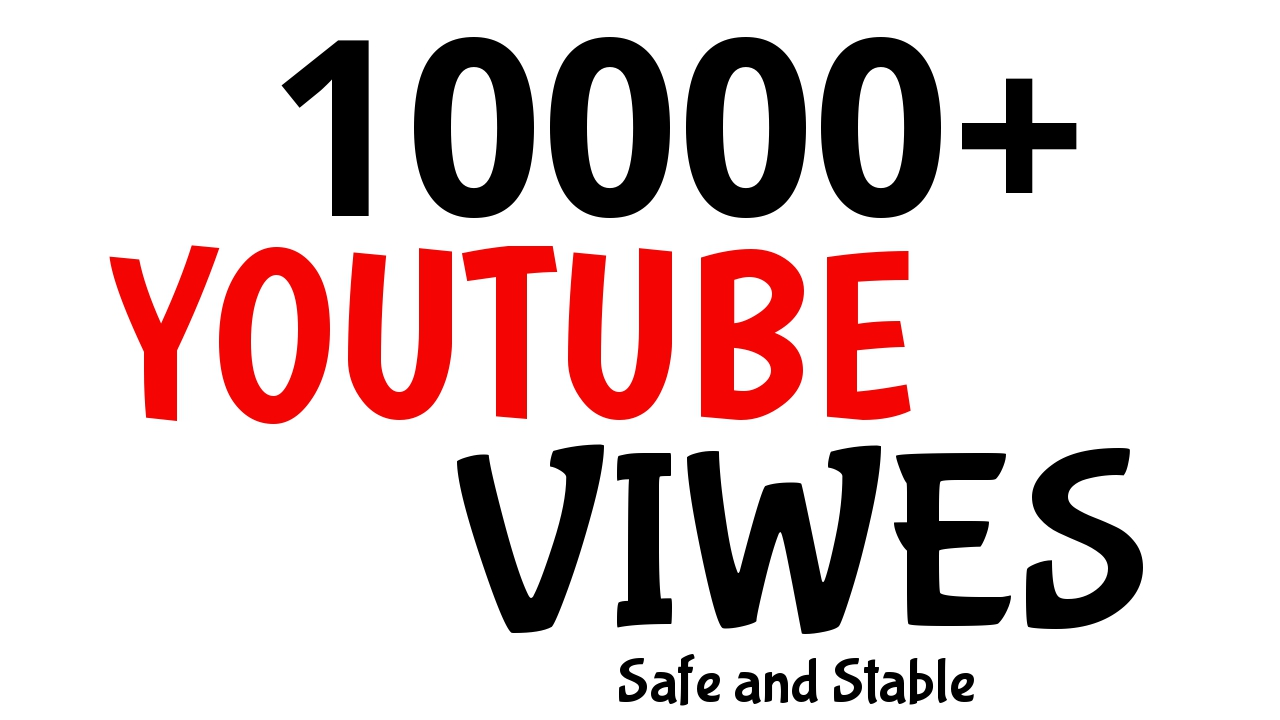 Get 10000+ YouTube Promotion Very Fast Speed AND HIGH RENETION GUARANTEED