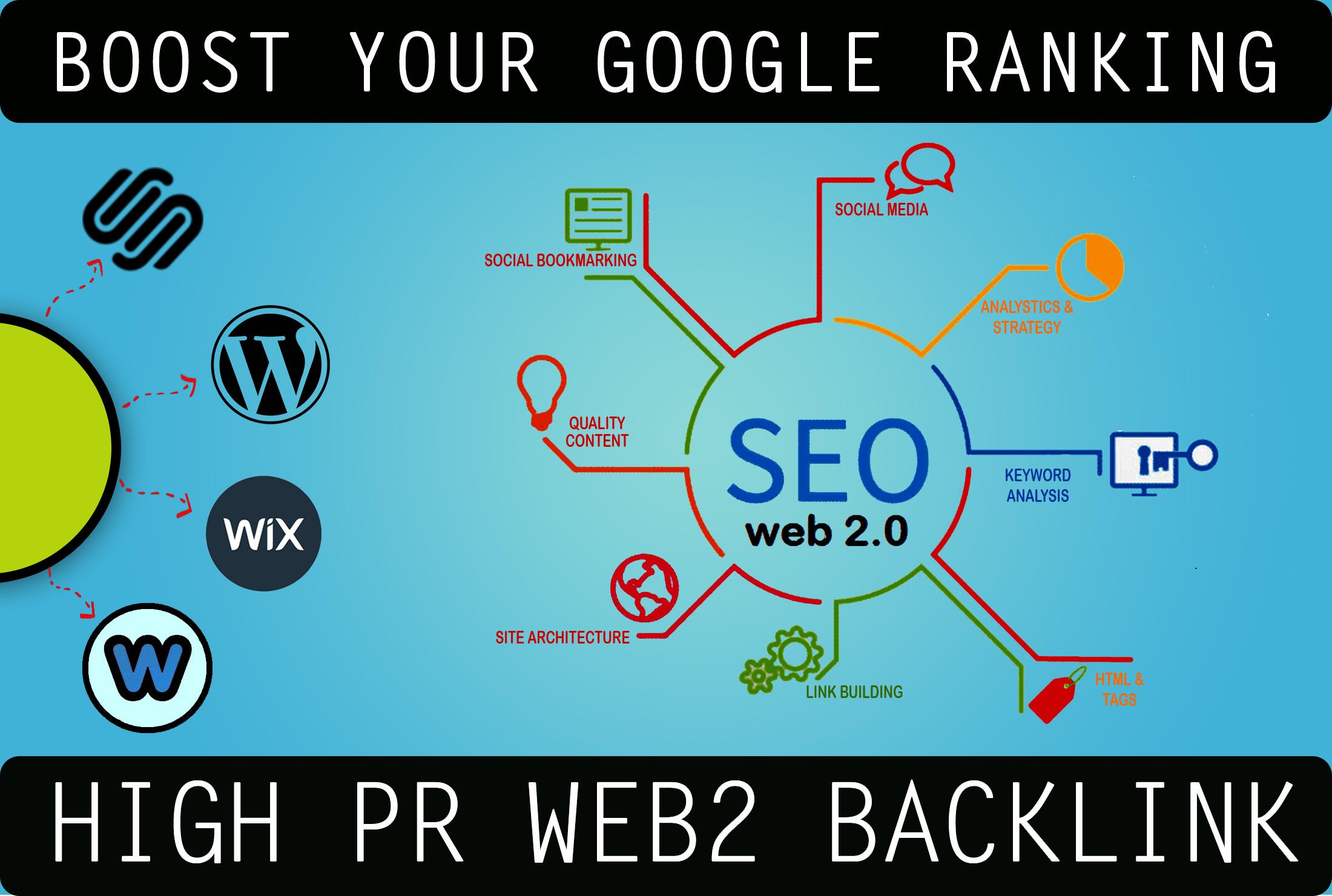 30+ high PR lifetime web2.0 backlinks