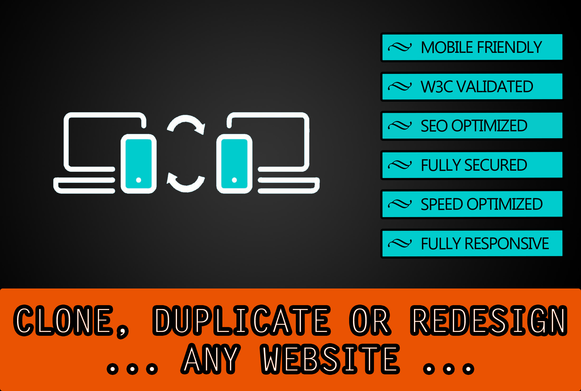clone,  customize or redesign any website professionally
