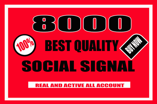 Do 8000 Quality SEO Social Signals