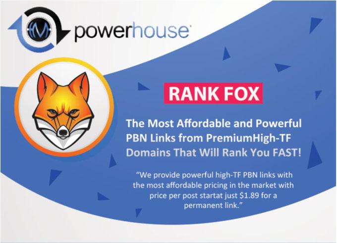 10 Permanent PREMIUM PBN links up to 30 TF and 40 DA - Rank Fox