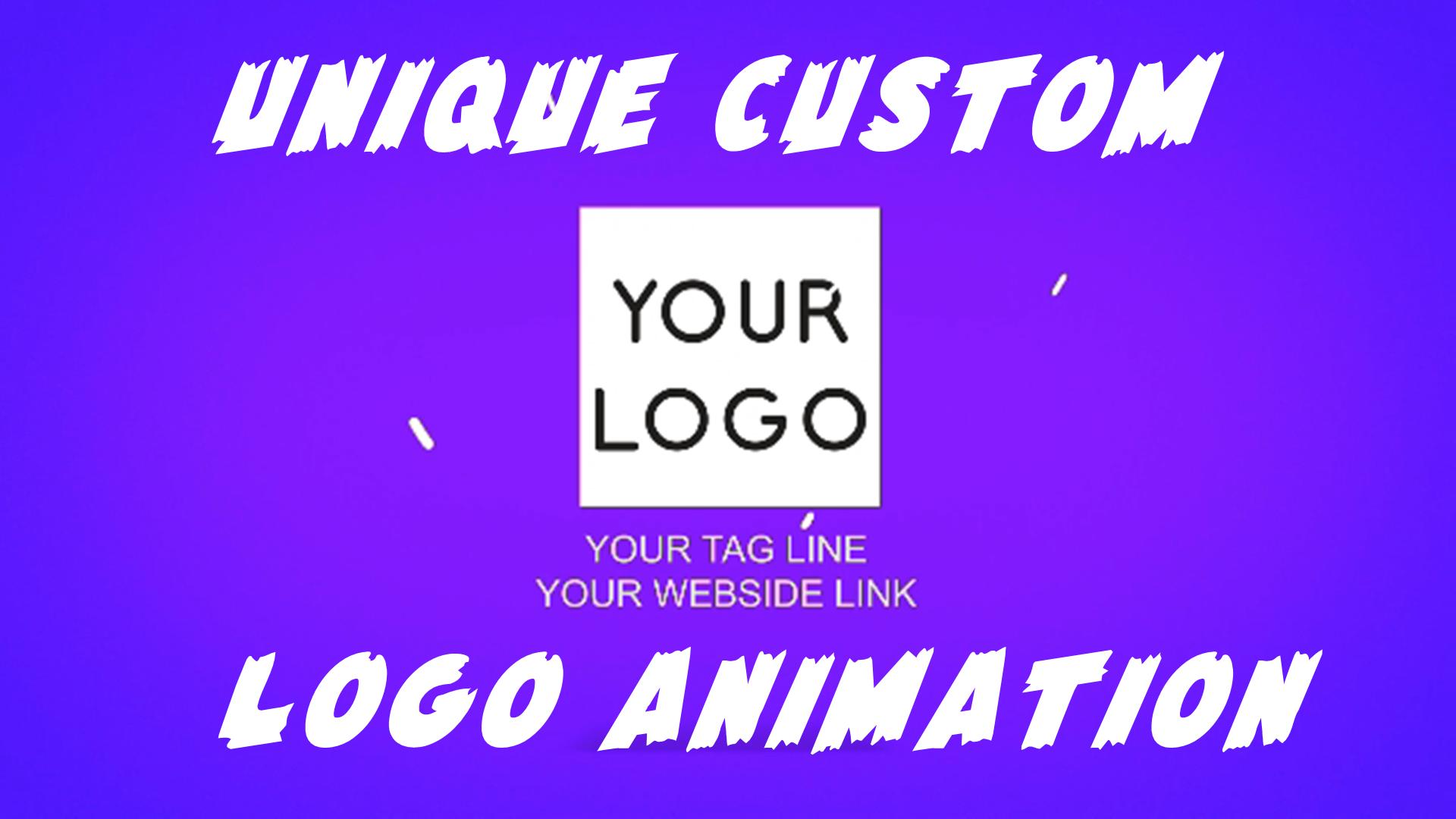 Create A Unique Custom Logo Animation Or Intro Video