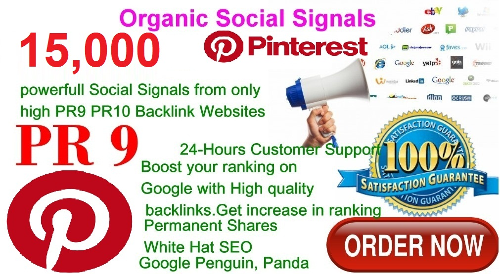 Rocket Delivery 15,000 Real High Quality Pinterest Share Social Signals PR9 No1 Social Media for Cpa Affiliate Marketing & Business Promotion benefit To Bookmark to Improve SEO and Boost Web Ranking