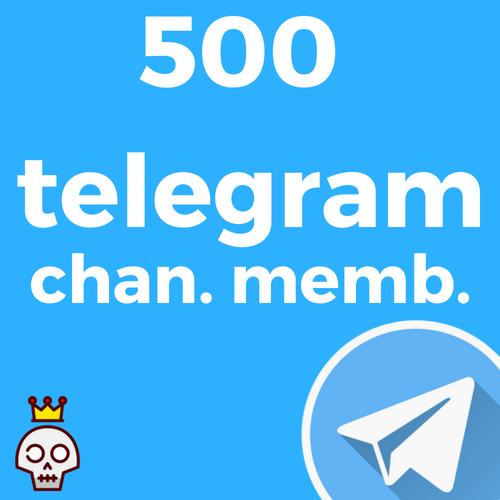 500 Telegram Channel Members