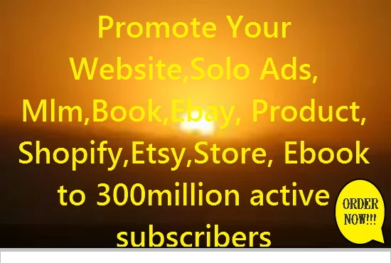 Shootout Promote Your Ecommerce, Website,  Ebook, Ebay, Amazon, Etsy, Store