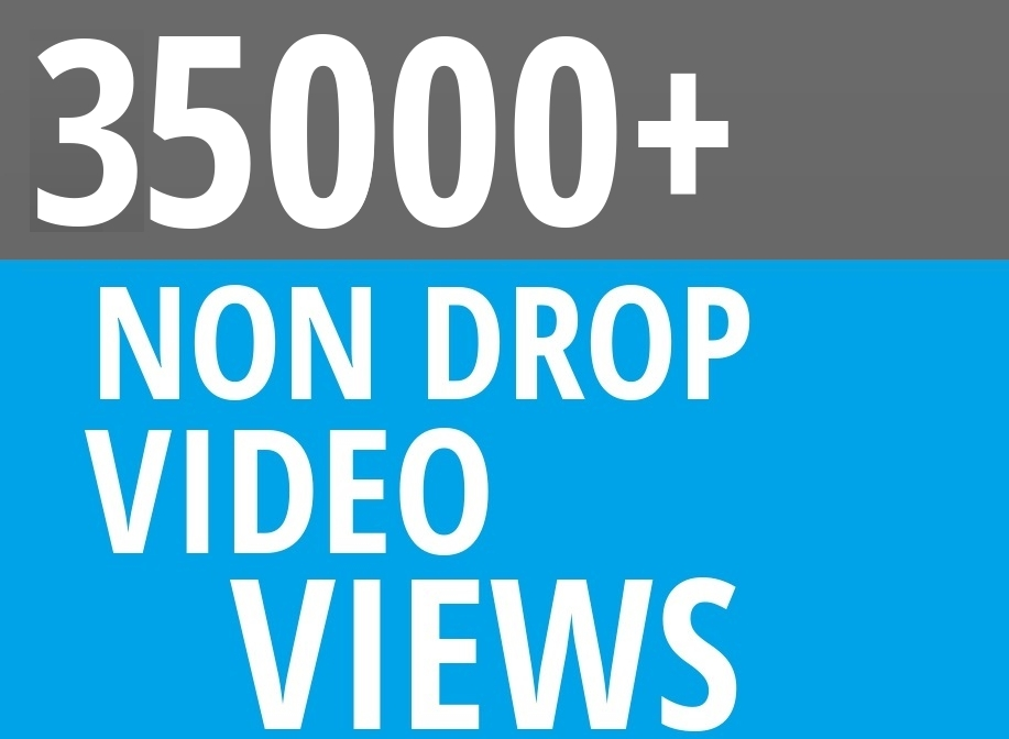 Add Fast 35000+ High Quality Social Video Views Fast and Stable Lifetime