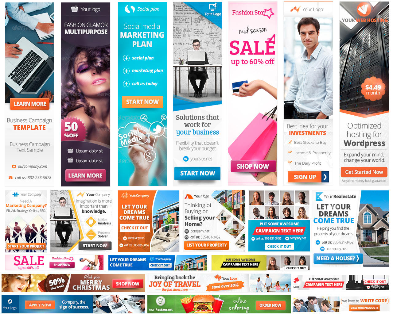 Design professional web Banner,  Flyer,  Poster,  Brochure for web Advertising